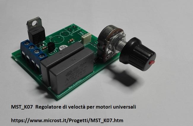 Schema Elettrico Regolatore Di Tensione Velocità Motore Elettrico Corrente Continua : Mst k regolatore di velocita per motori elettrici