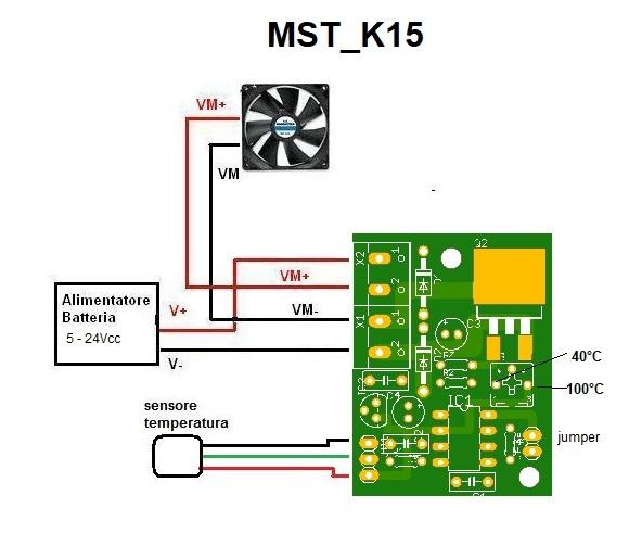 Schema Collegamento Motore Cappa 3 Velocità : Mst k regolatore di velocita per ventole pc