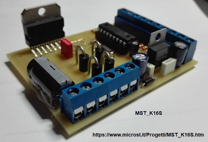 Schema Elettrico Regolatore Di Tensione Velocità Motore Elettrico Corrente Continua : Mst k16s regolatore di velocita per motori elettrici in corrente