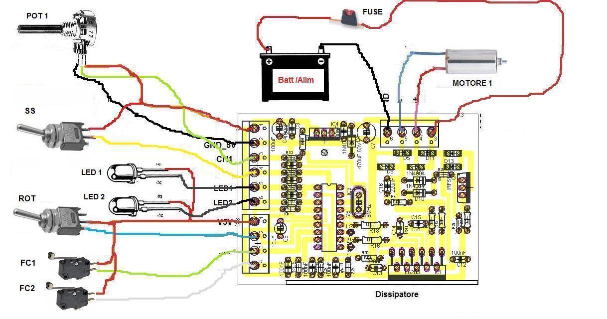 Schema Collegamento Motore Cappa 3 Velocità : Schema elettrico phon a velocità grix forum variare la