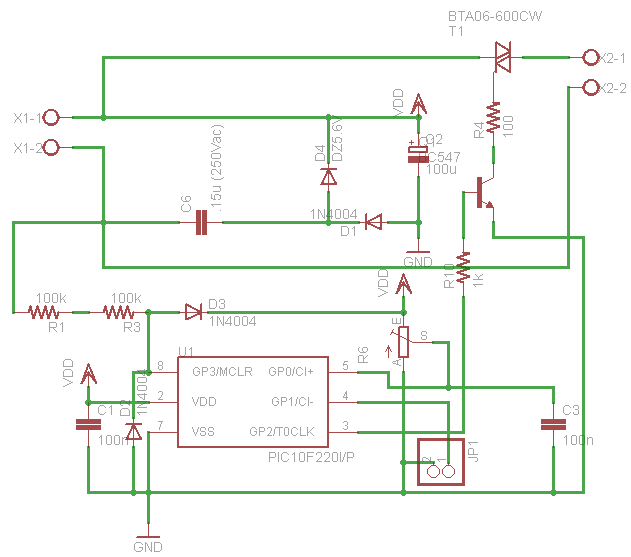 Schema Elettrico Zip : Lampeggiatore per lampade v schema elettrico e pcb