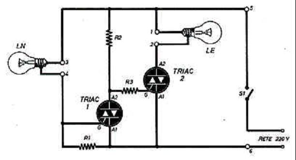 Schema Elettrico Per Lampada : Commutatore di emergenza introduzione e schema
