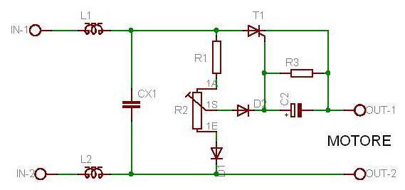 Schema Elettrico Regolatore Di Tensione Velocità Motore Elettrico Corrente Continua : Regolatore di velocita per motori elettrici universali