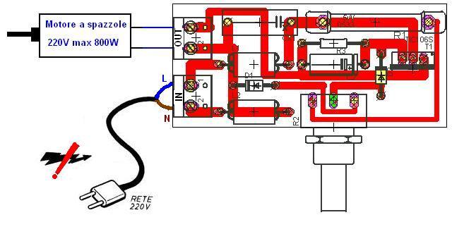 Schema Elettrico Per Motore Monofase : Regolatore giri motore v montare elettrico