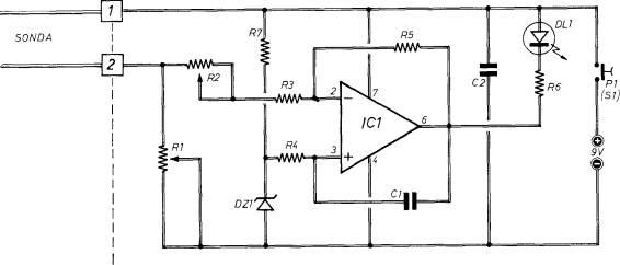 Schema Elettrico Rilevatore Di Presenza : Rivelatore umidita del terreno schema elettrico