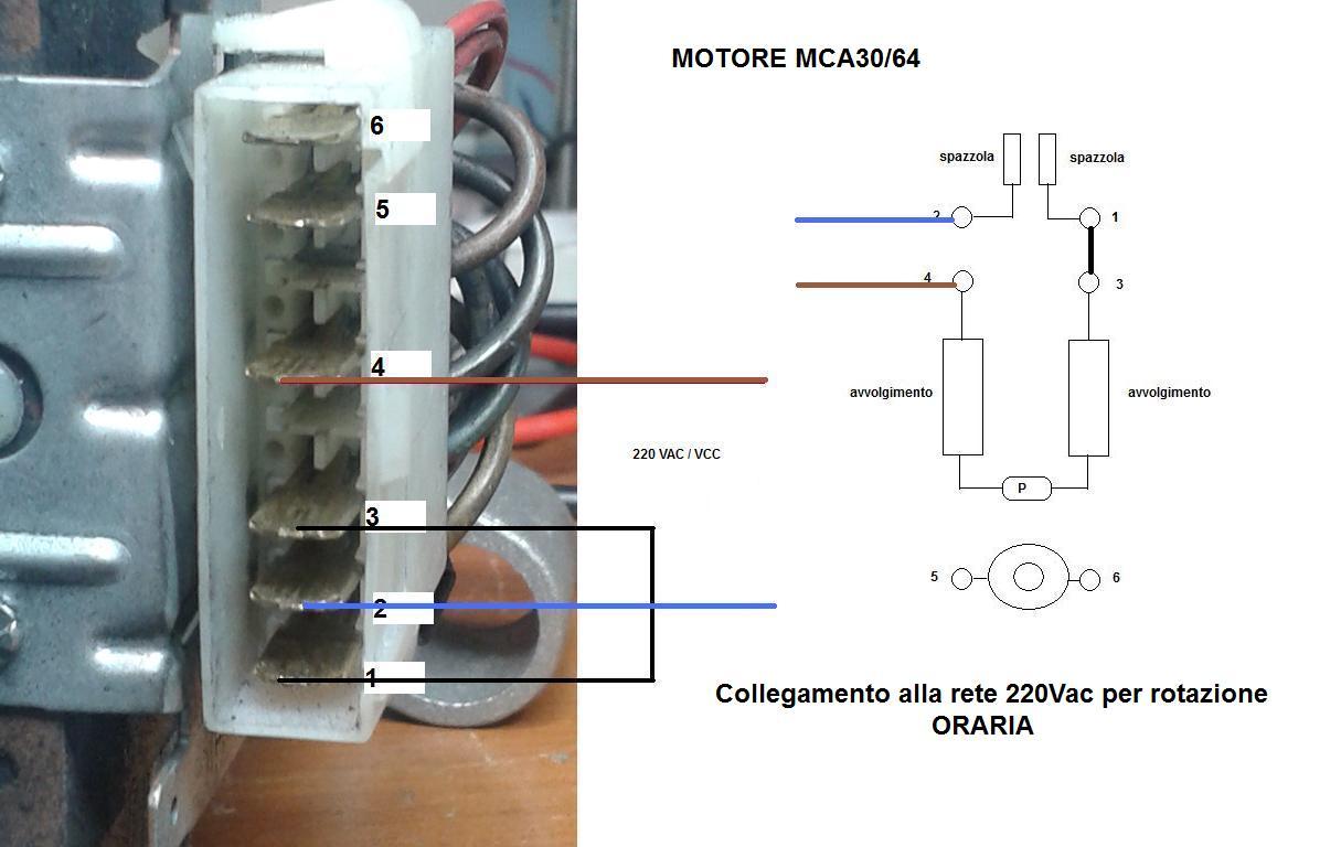 Schema Elettrico Motore Lavatrice : Schema collegamento motore lavatrice fili per