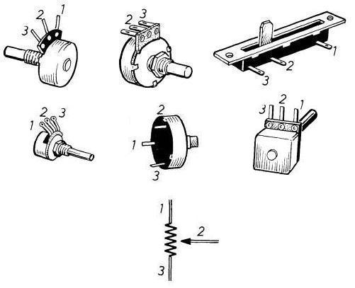 Schema Elettrico Potenziometro : Resistori variabili