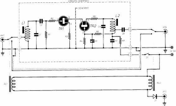 Schema Elettrico Per Antenna Tv : Preamplificatore d antenna per stazioni cb schema elettrico
